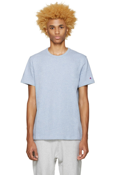 Champion Reverse Weave - Blue Speckled Jersey T-Shirt