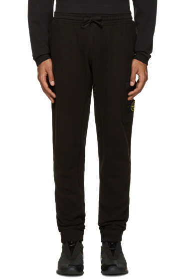 Stone Island - Black Cotton Lounge Pants