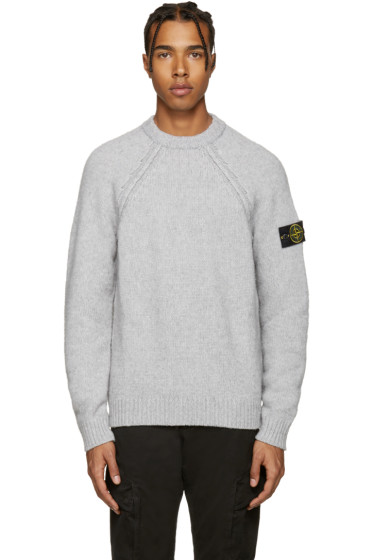 Stone Island - Grey Knit Sweater