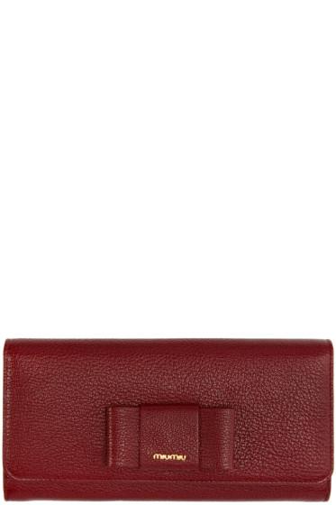 Miu Miu - Red Bow Continental Wallet