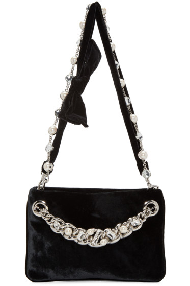Miu Miu - Black Velvet Bow Bag