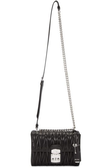 Miu Miu - Black Matelassé Lock Bag