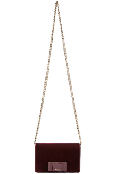 Miu Miu - Burgundy Velvet Bow Bag