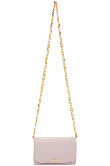 Miu Miu - Pink Leather Shoulder Bag