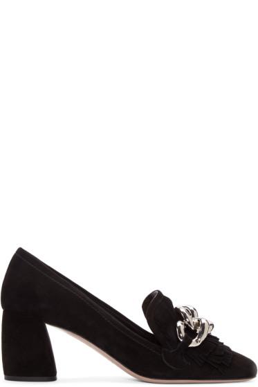 Miu Miu - Black Suede Loafers