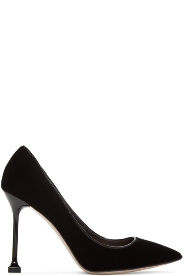Miu Miu - Black Velvet Decollete Heels