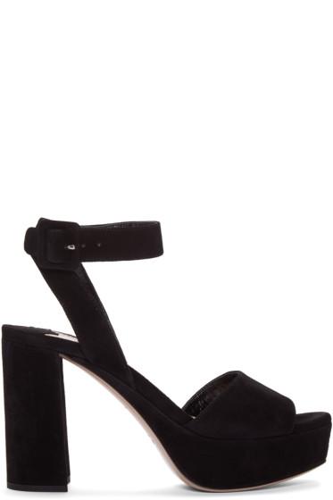 Miu Miu - Black Suede Sandals
