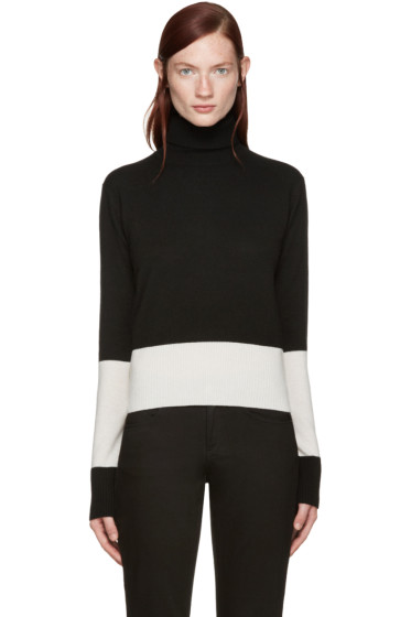 Wendelborn - Black & Ivory Colorblocked Turtleneck