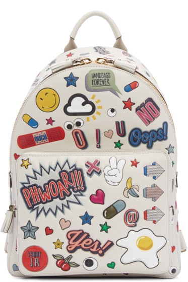 Anya Hindmarch - Off-White All-Over Stickers Mini Backpack