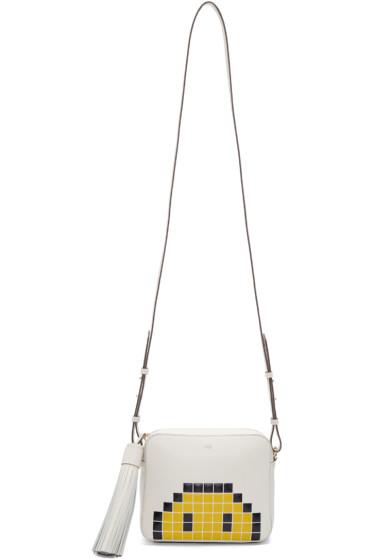 Anya Hindmarch - Ivory Pixel Smiley Bag