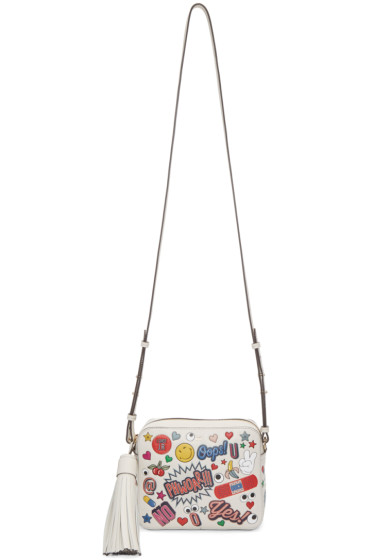 Anya Hindmarch - Off-White All-Over Sticker Cross-Body Bag