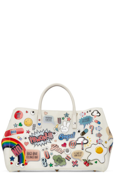 Anya Hindmarch - Off-White All-Over Stickers Maxi Ebury Tote