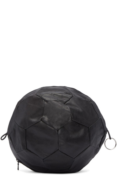 Bless - Black Leather Football Clutch