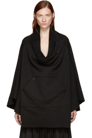 Bless - Black Fleece Poncho Sweatshirt