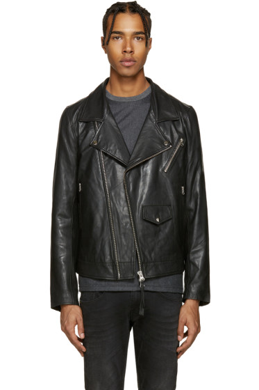 Tiger of Sweden Jeans - Black Leather Zuko Jacket