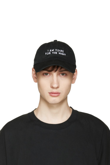 Nasaseasons - SSENSE Exclusive Black 'I Am Yours' Cap