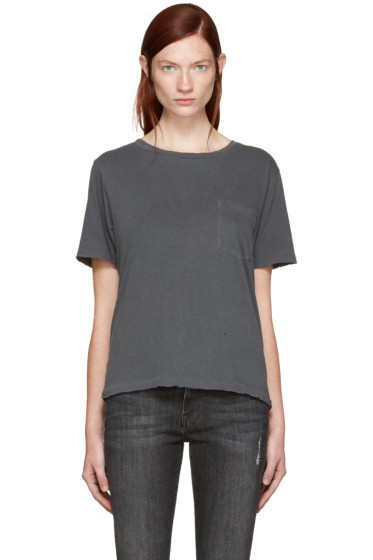 Amo - Grey Tomboy Pocket T-Shirt