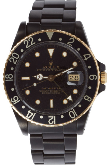 Black Limited Edition - Matte Black & Gold Limited Edition Rolex GMT Master I
