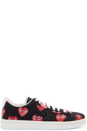 Comme des Garçons Play - Black Heart Print Converse Edition Sneakers