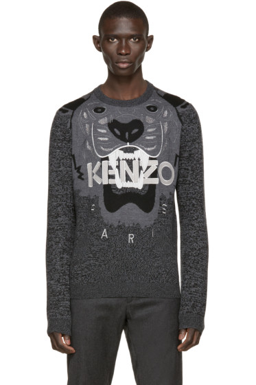 Kenzo - Black & Grey Tiger Sweater