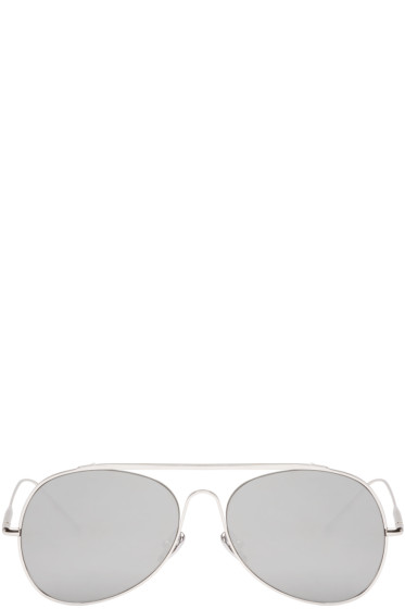 Acne Studios - Silver Large Spitfire Sunglasses