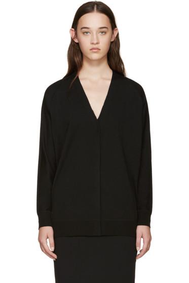 Alexander Wang - Black Merino Wool Asymmetric Cardigan