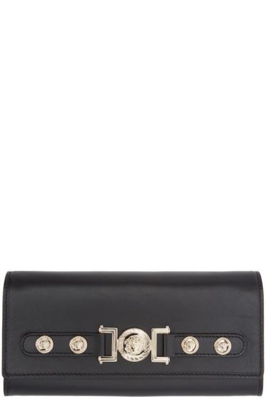 Versace - Black Leather Medusa Wallet