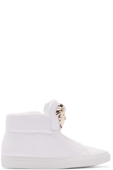 Versace - White Medusa High-Top Sneakers
