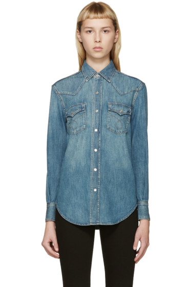 Saint Laurent - Blue Classic Denim Shirt