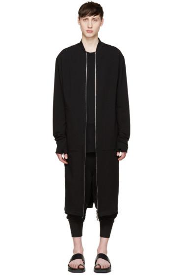 Thamanyah - Black Long Jersey Coat