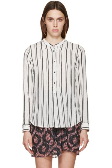 Isabel Marant - Black & White Striped Udena Shirt