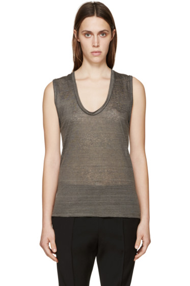 Isabel Marant - Grey Linen T-Shirt