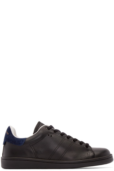 Isabel Marant - Black Leather Bart Sneakers