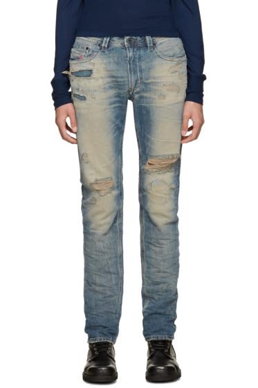 Diesel - Blue Distressed Thavar Jeans