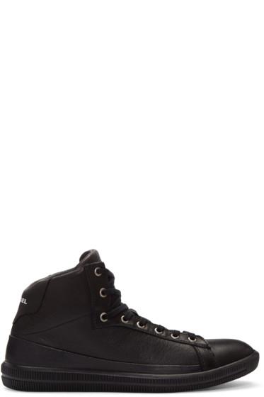 Diesel - Black S-Naptik Mid-Top Sneakers