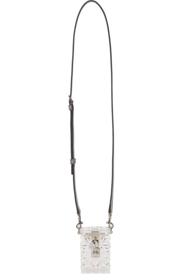 Dolce & Gabbana - Clear Plexiglass Bejewelled Shoulder Bag