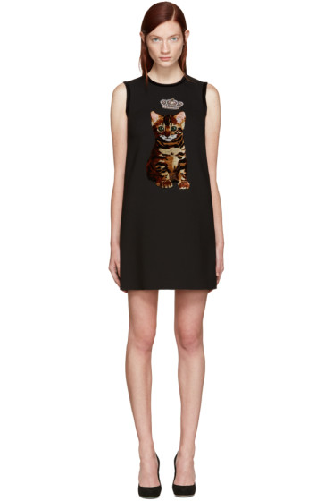 Dolce & Gabbana - Black Bengal Cat Dress