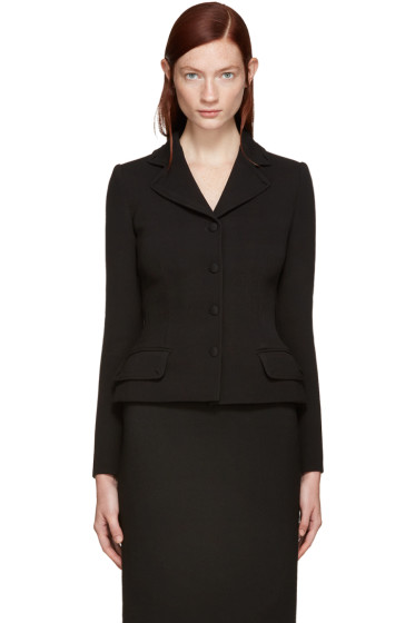 Dolce & Gabbana - Black Fitted Wool Blazer