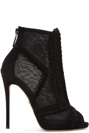 Dolce & Gabbana - Black Mesh Boots