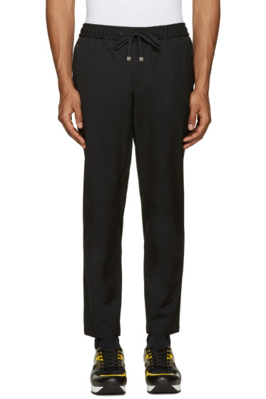 Dolce & Gabbana - Black Drawstring Trousers