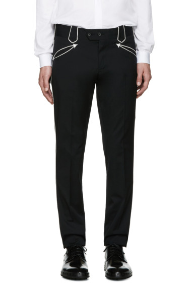 Dolce & Gabbana - Black Piping Trousers