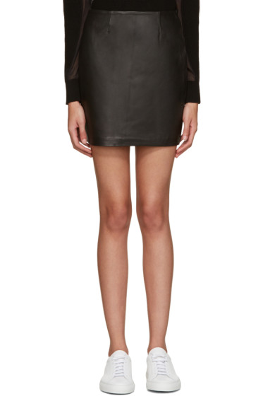 Mackage - Black Leather Alva Miniskirt
