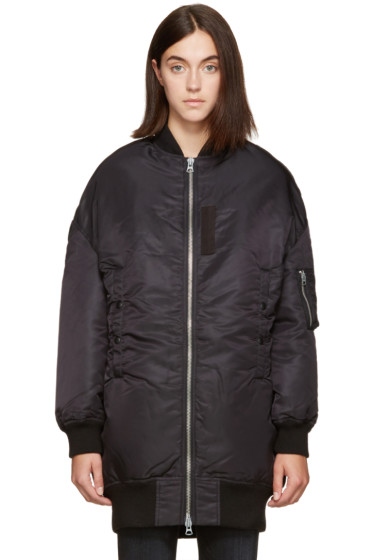 R13 - Black Cape Flight Bomber Jacket
