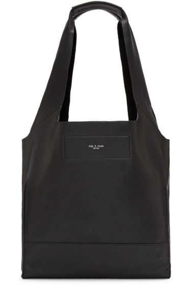 Rag & Bone - Black Leather Walker Tote