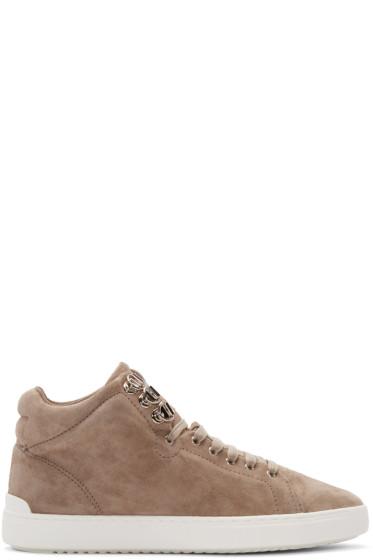 Rag & Bone - Grey Suede Kent High-Top Sneakers
