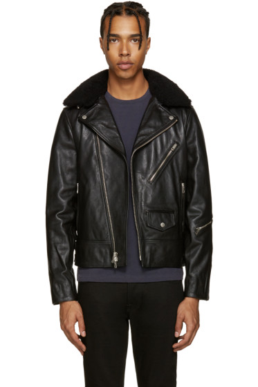 Rag & Bone - Black Leather Buzz Jacket