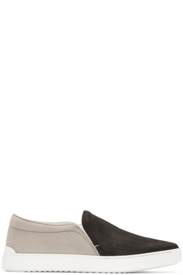 Rag & Bone - Black & Grey Kent Slip-On Sneakers