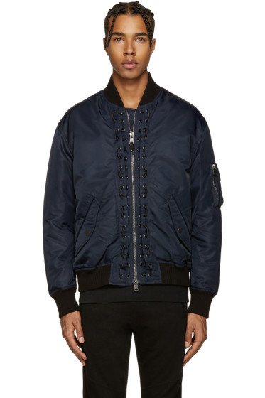 Diesel Black Gold - Navy Aviator Bomber Jacket