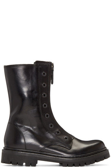 Diesel Black Gold - Black Military Combat Boots