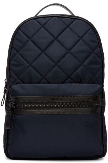 Moncler - Navy Quilted Backpack